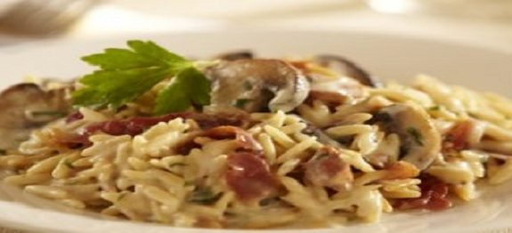 Orzotto with Prosciutto and Mushrooms