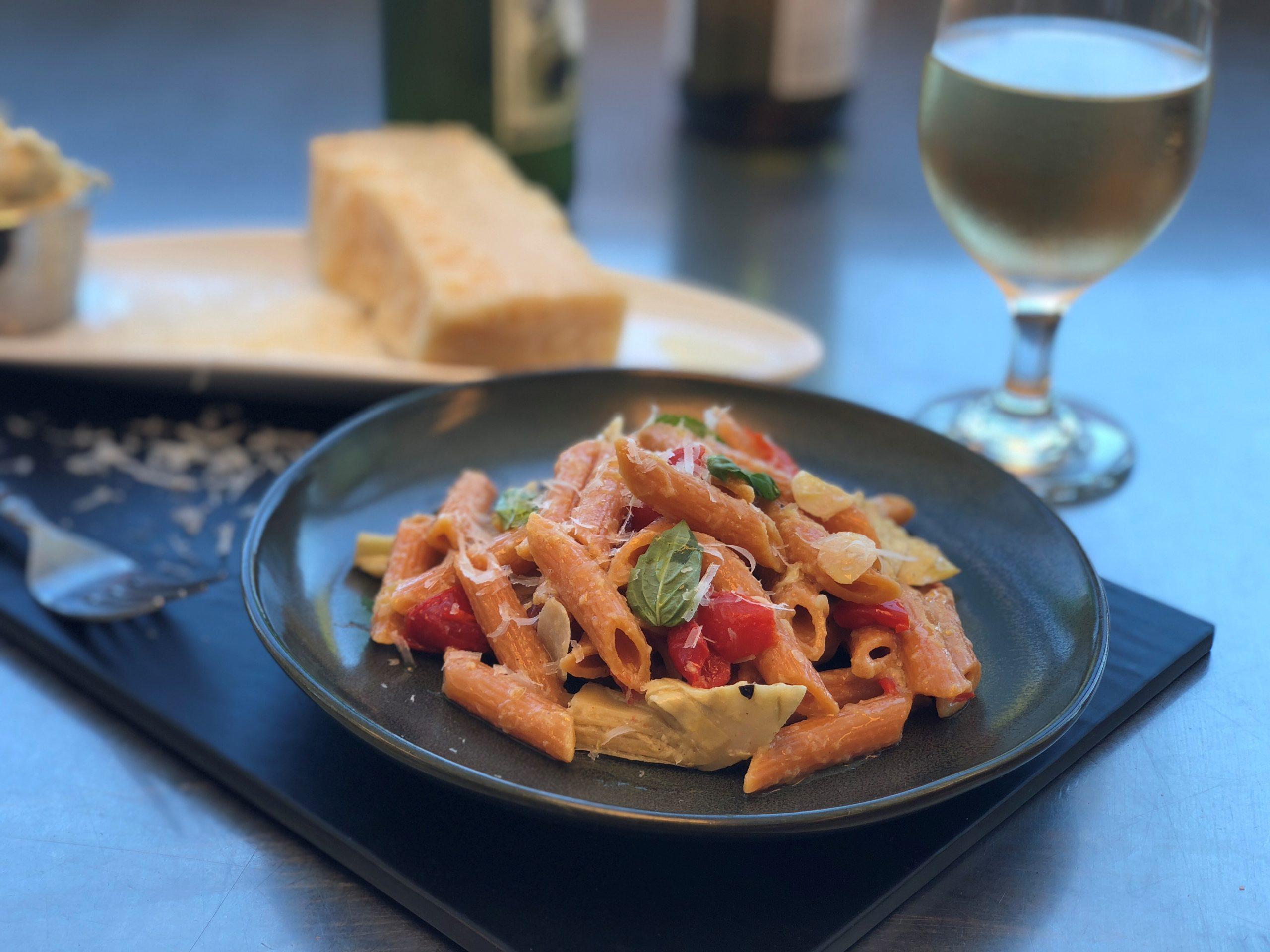 Artichoke and Peppadew Pasta