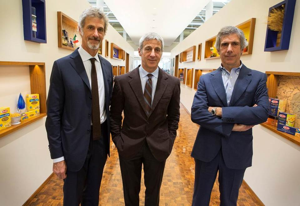 Chairman and Vice Chairman Guido, Luca and Paolo Barilla